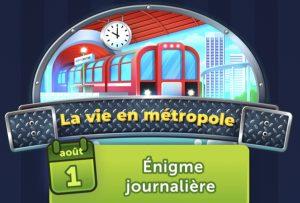 Solution 4 Images 1 Mot énigme journalière La vie ein métropole Août 2021